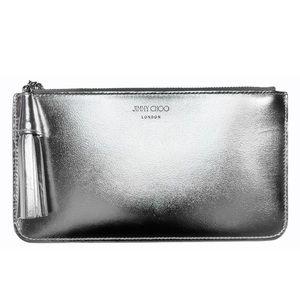 SALE 🌟 JIMMY CHOO Metallic Leather Mini-Pouch NWT
